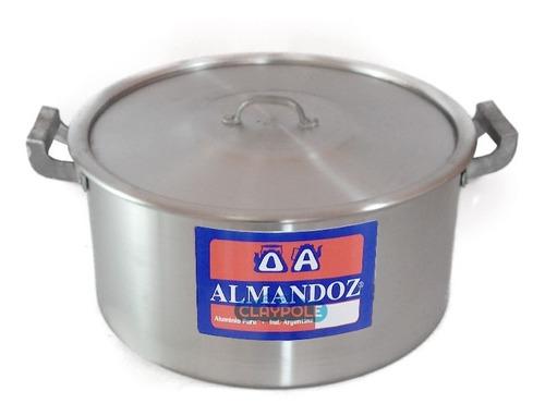 cacerola gastronómica aluminio reforzado n°30 - 10  lts