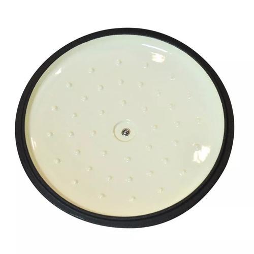 cacerola hierro enlozado 24 cm negro con tapa fundicion
