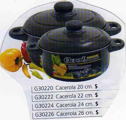 cacerolas con teflon nro.24 de carol