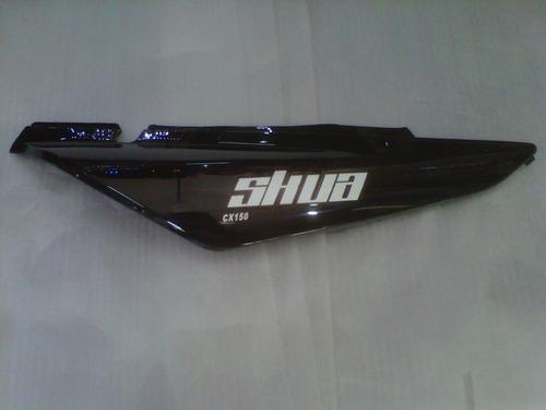 cacha bajo asiento motomel skua 150 negra derecha- dos rueda