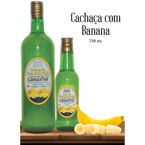 cachaça com banana 750 ml c/12 unidades atacado