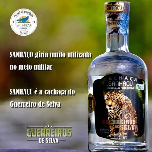 cachaça sanhaçu guerreiro de selva - kit 01