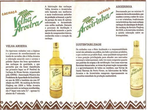 cachaça velha aroeira - 670 ml