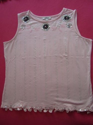 cacharel blusa bordada con strass y paillettes alice sale!!