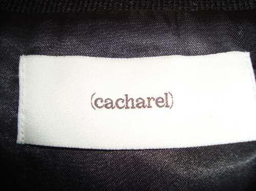 cacharel chaleco importado piel conejo negro new collection