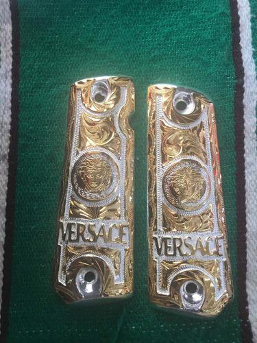 cachas de platinado con chapa de oro para pistolas 22 y 380