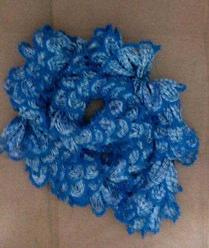 cachecol em tricô feito a mão