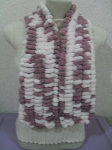 cachecol lã bolinha diversas cores e modelos