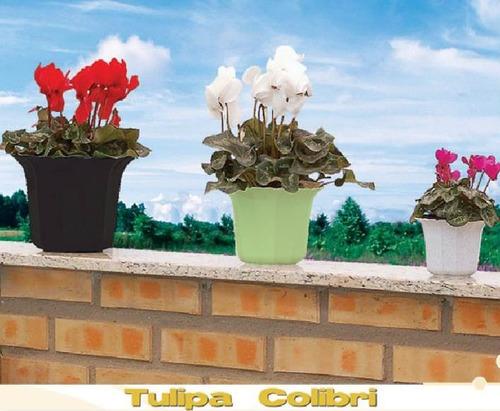 cachepô tulipa canelada 23cm - 6 unidades