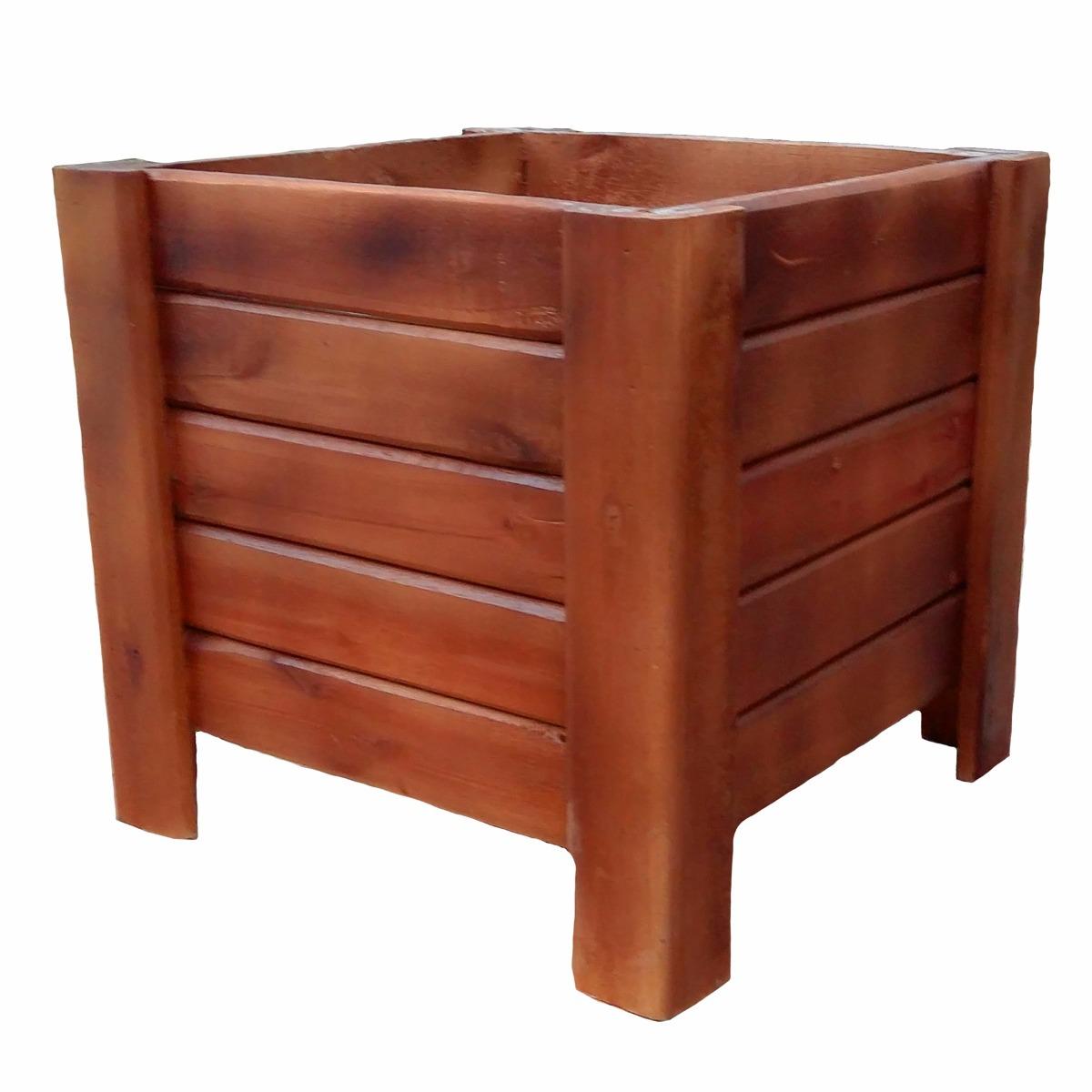 Cachepo De Madeira Grande 40x40 Para Plantas/caixa/vaso R$ 89 00 em  #46140C 1200x1200