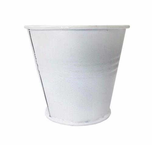 cachepot balde metal enfeite decora mesa festa mini 12 unid