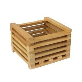 cachepot de madeira maciça para flores 20x20x10(kit com 10)