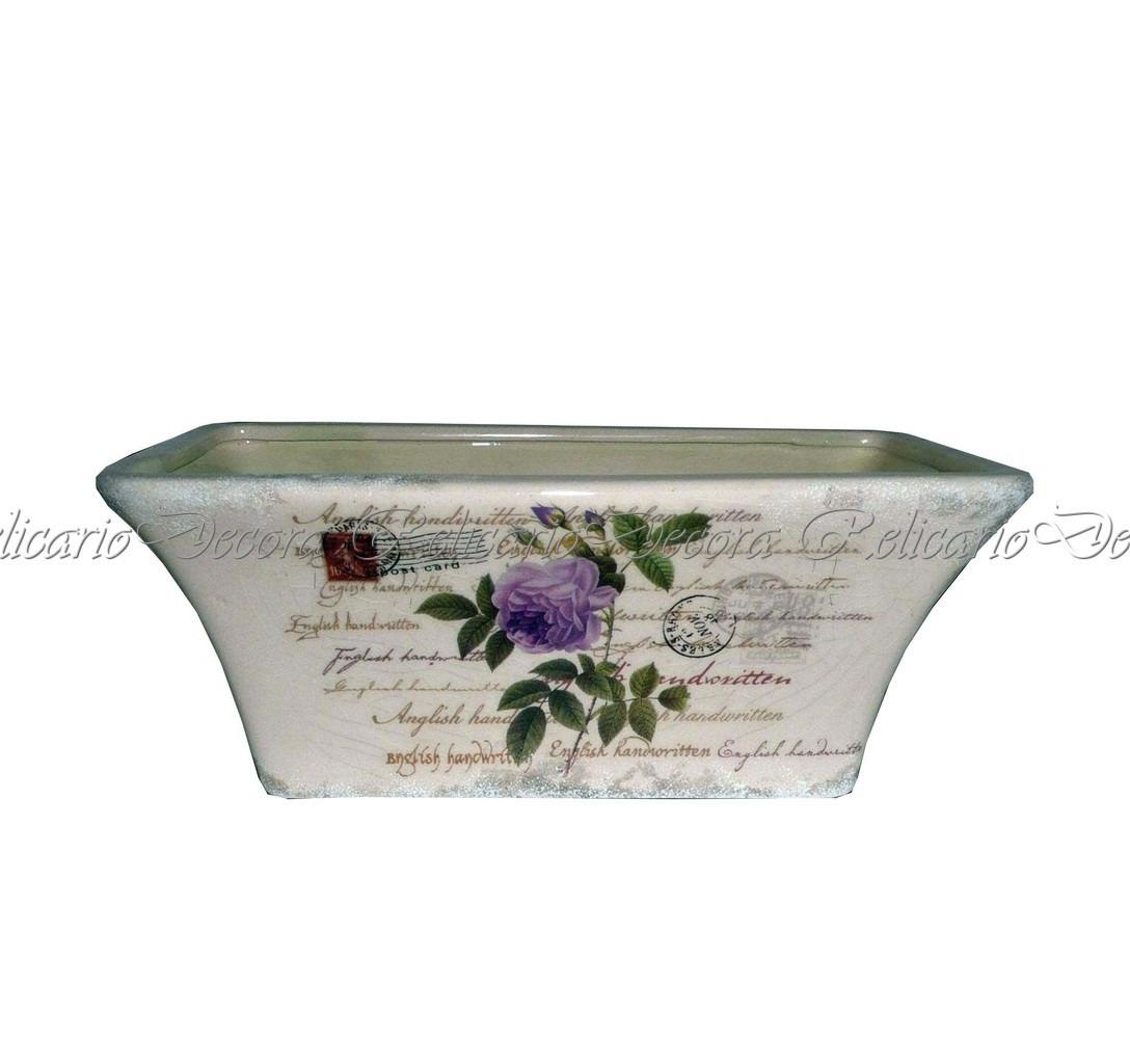 9312e0a6b76 Cachepot Floreiro Ret. Porcelana Ceramica Flores Qualidade - R  65 ...