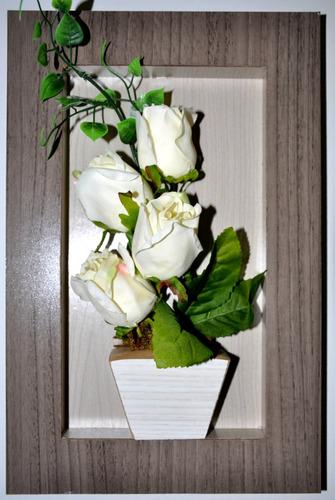 cachepot - quadro de flores - painel - decoração