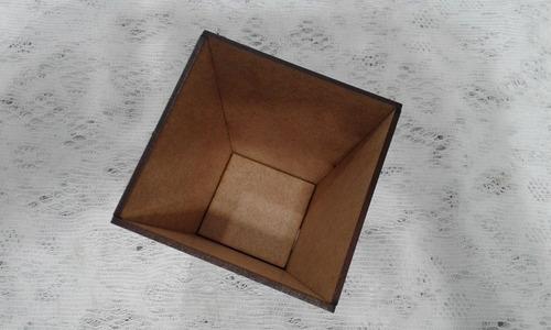 cachepot vaso 10x10cm mdf cru decoração centro de mesa festa