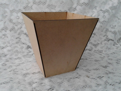 cachepot vaso 20x20cm mdf cru decoração centro de mesa 10un