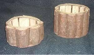 cachepôs de madeira rústica
