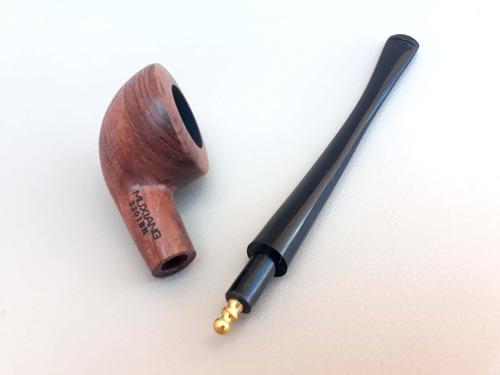 cachimbo de madeira com acrílico fumo com suporte