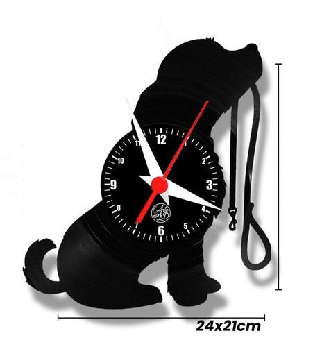 cachorrinho cachorro pet relógio parede vinil arte no lp