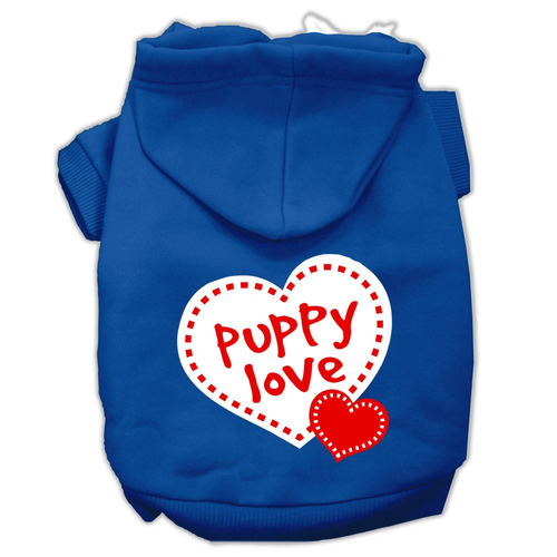 cachorro amar pantalla impresión pet hoodies azul tamaño x
