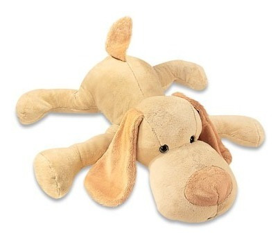 cachorro bruno de pelúcia bege 115 cm antialérgico unissex