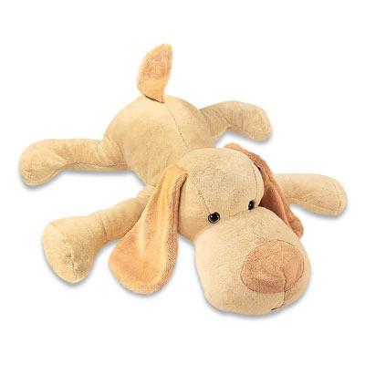 cachorro bruno pelucia bege deitado 117cm lavavel antialergi