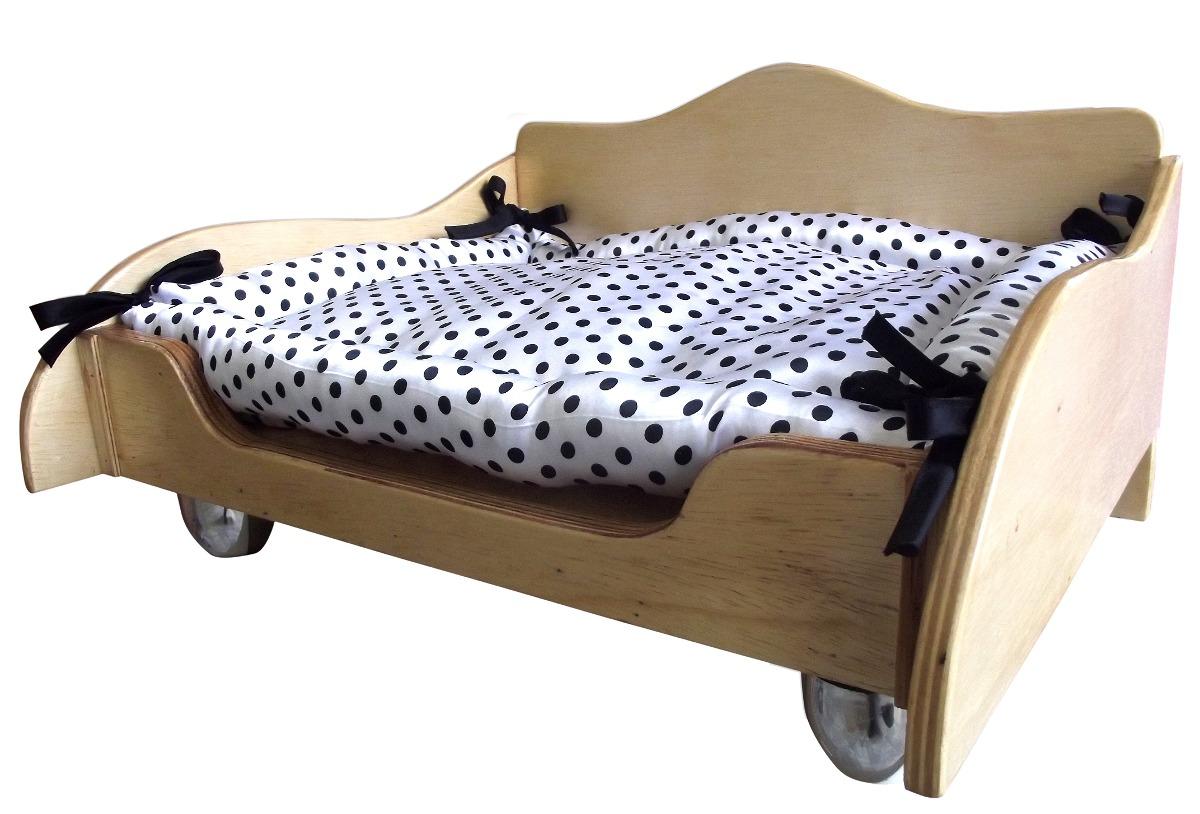 Cama de cachorro madeira crua verniz cama madeira p c es for Cama cama cama