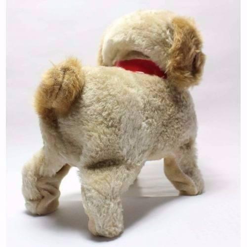 cachorro pelucia, anda, late e da cambalhotas- muito fofo!!