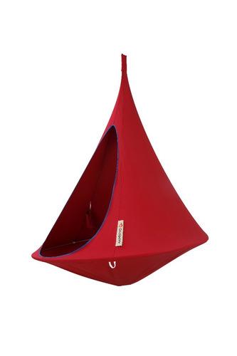 cacoon - hamaca colgante tamaño single color rojo