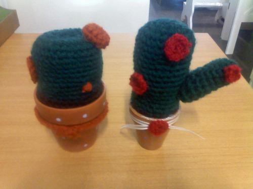 cactus en crochet amigurumi
