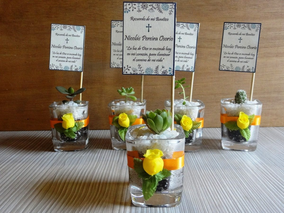Recuerdos De Bautizo Con Cactus.Cactus Encintados Plantas Para Bautizos Regalos Decorados