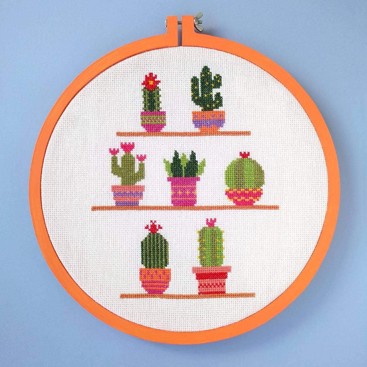 Cactus - Patrón De Punto Cruz En Pdf - Hylos - $ 200,00 en Mercado Libre