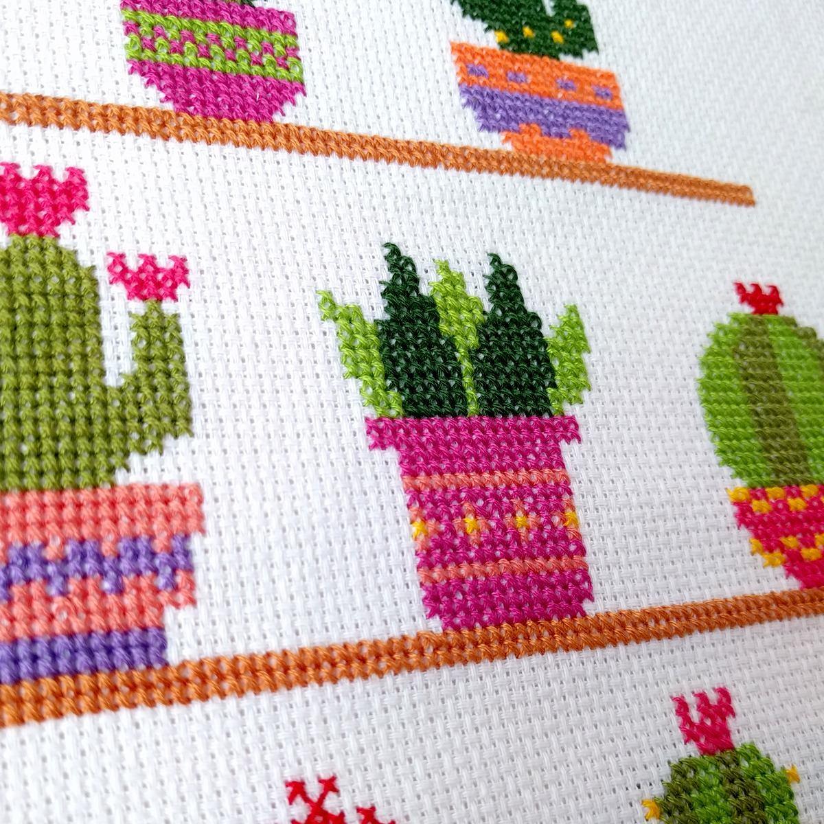 cactus patrón de punto cruz en pdf hylos 200 00 en mercado libre