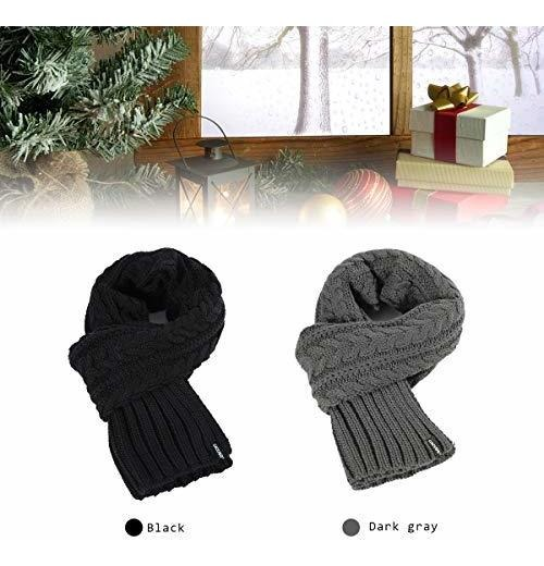 CACUSS Mens Winter Long Knitted Scarf Soft Warm Scarves for Cold Weather  talkingbread.co.il