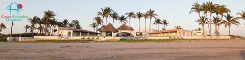 cad casa barake. playa privada. alberca, jardín enorme