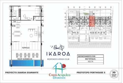 cad ikaroa 1 ph 5. alberca privada, jacuzzi, dos terrazas