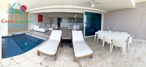 cad palmeiras b 403. terraza con jacuzzi. vista al mar