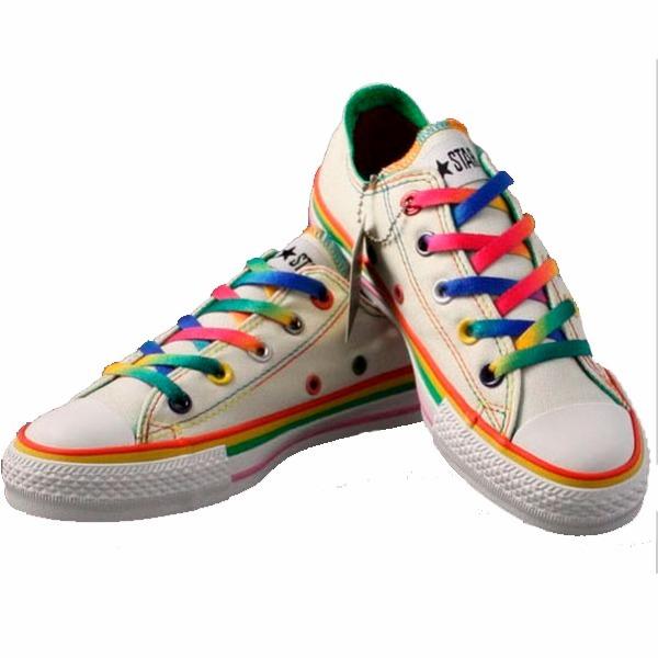 new product 9d6e7 5db1a cadarço arco íris rainbow 12 pares colorido sapato bota teni