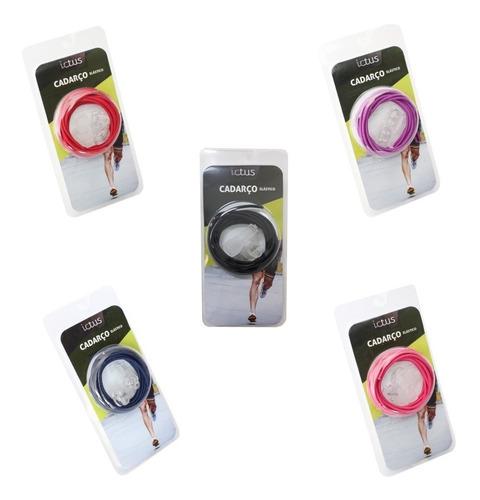 cadarço elástico para tênis - corrida triathlon ictus cores