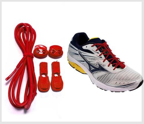 cadarço elástico para tênis de corrida e triathlon