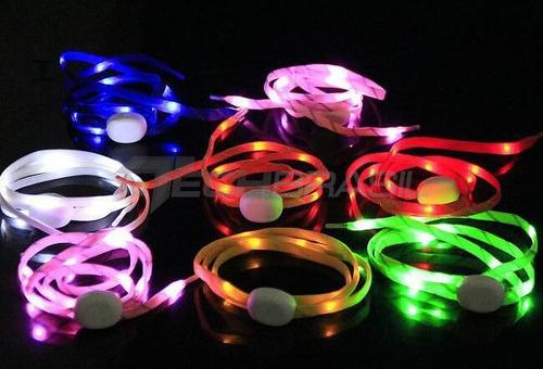 cadarço led luminoso tênis masculino feminino - varias cores