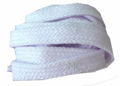 cadarço tênis chato branco algodão adidas 1,30cm o par