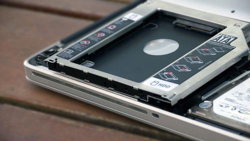 caddy 9.5mm macbook pro / notebook sata 2do disco hdd ssd