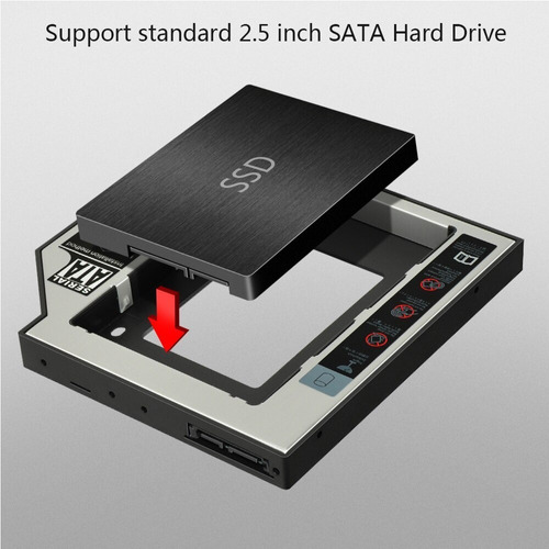 caddy bastidor 12.7mm hdd/ssd 2.5   sata para notebook