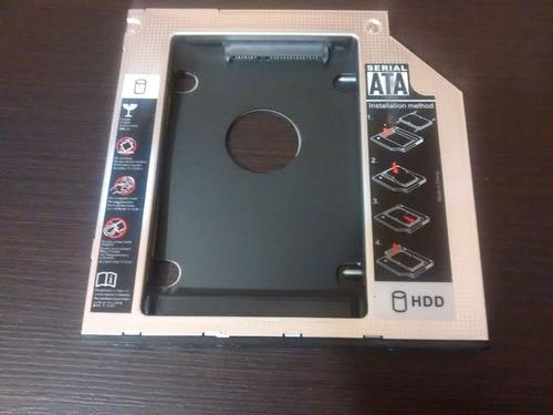 caddy dvd sata 9.5 mm 2 discos duros o ssd