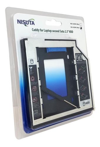 caddy segundo disco notebook hdd sata o ssd windows 9,5mm