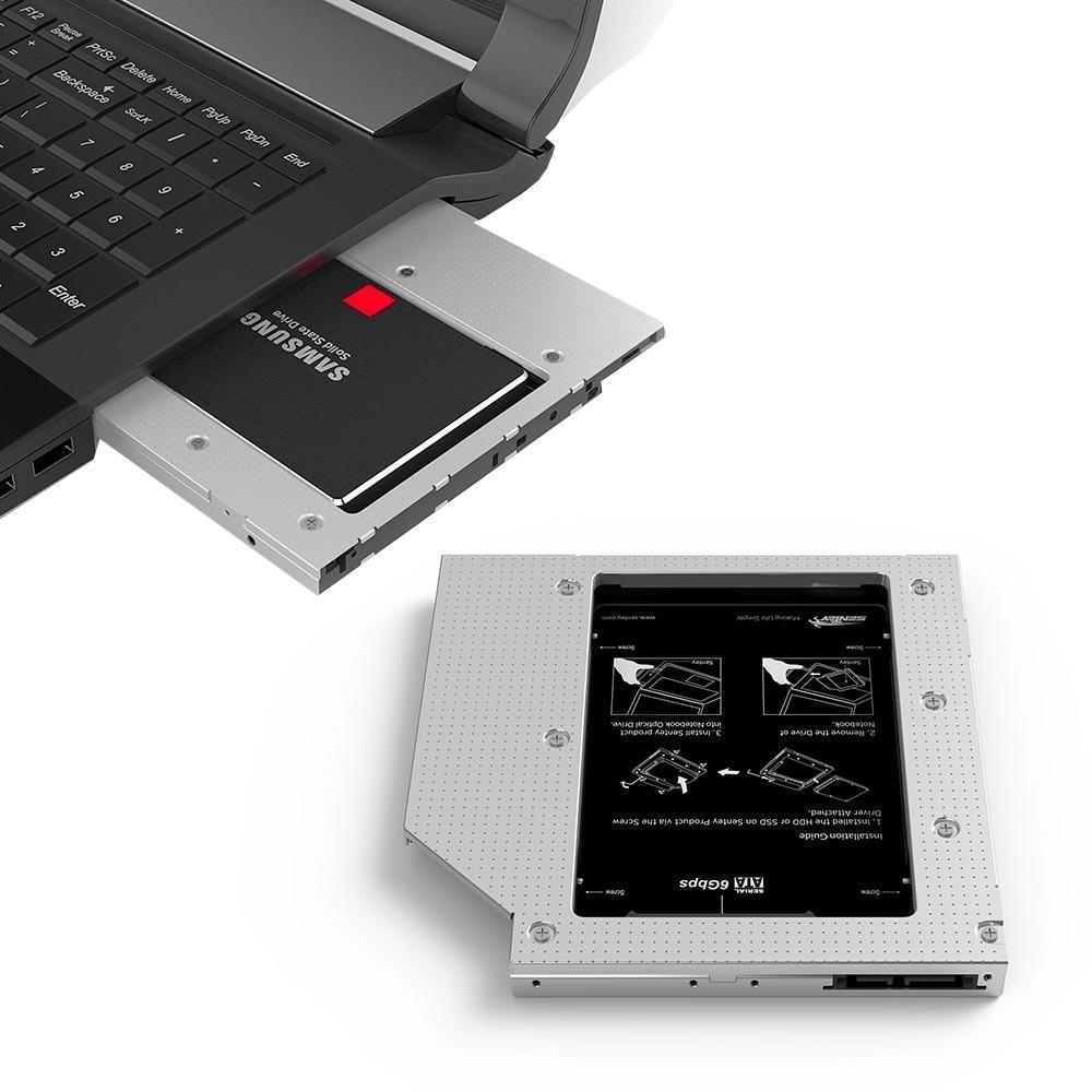 ADAPTADOR DISCO 2.5 HDD SSD PARA NOTEBOOK/PC KANJI KJCADDY