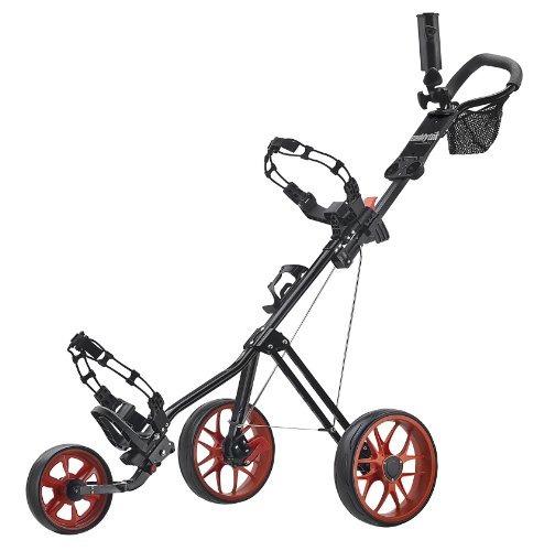 caddytek superlite carrito de golf de lujo, negro / naranja