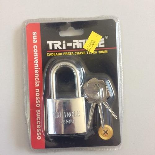 cadeado 32mm tetra chave triangle uso geral