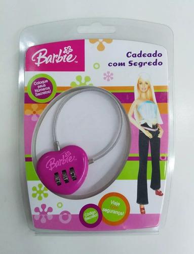 cadeado barbie com segredo primicia ba1436